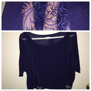 Express crop top w/ lace cut-out detail XS